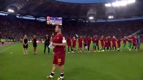 grazie roma testo addio totti la lettera ai tifosi e testo