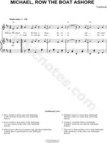 michael row the boat ashore history traditional quot michael row the boat ashore quot sheet music in