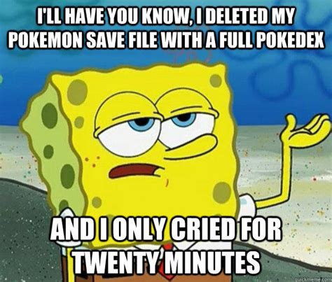 Tough Spongebob / I Only Cried For 20 Minutes   Know Your Meme