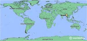Burma World Map by Where Is Myanmar Where Is Myanmar Located In The World