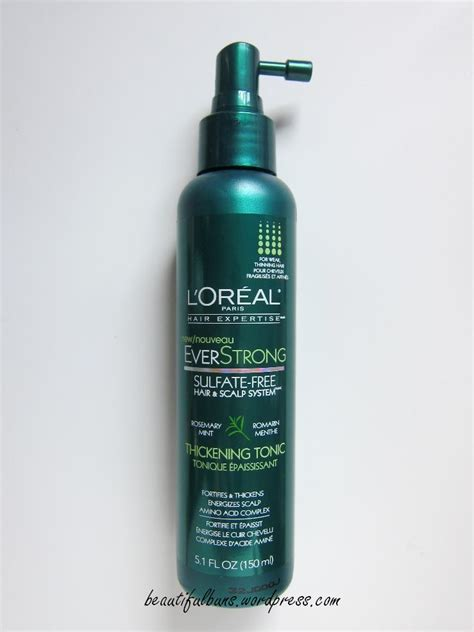 Loreal Hair Tonic review l oreal everstrong thickening tonic