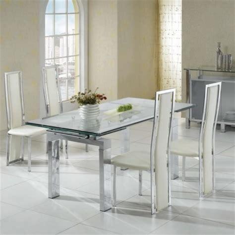 extending glass dining table maxi transparent 6 x d231