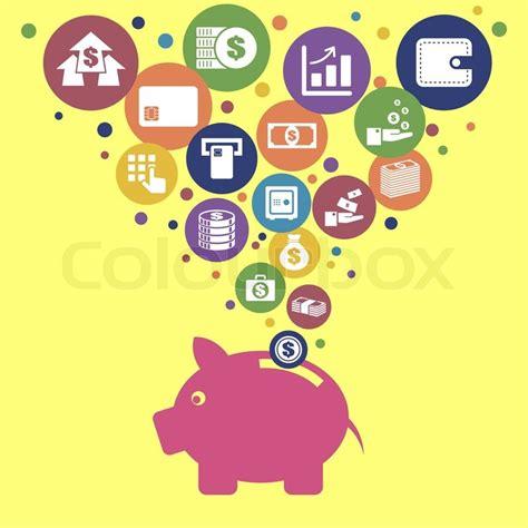 inurl bank kredit geld de finanzen und geld vektorgrafik colourbox