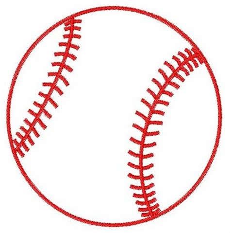 baseball template satin stitch embroidery design baseball outline 2 51