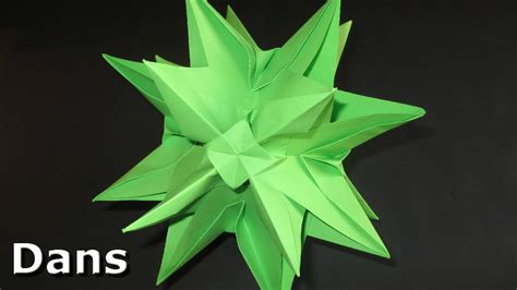 how to make 3d star and balls origami 3d decoration idea s kusudama spiky