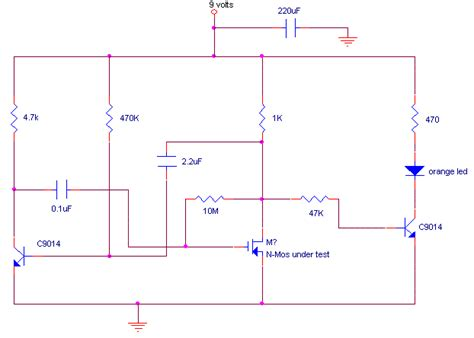 transistor mosfet testear how to build mosfet tester circuit diagram