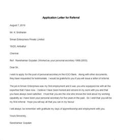 application letter template sle of an application letter for employment