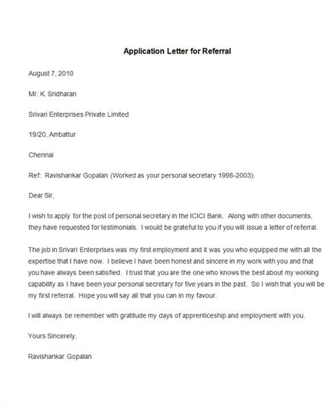 application letter of employment sle of an application letter for employment