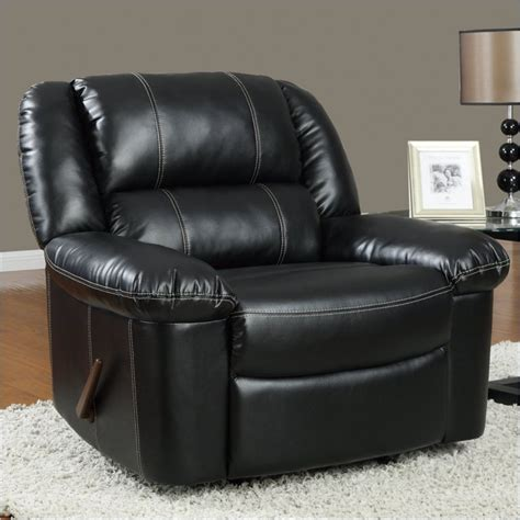 black leather rocking recliner global furniture usa 9966 rocker recliner chair in black