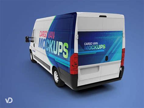 van design mockup van cargo mockups free download on vectogravic com