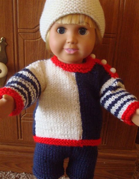 knit sweater pattern 18 inch doll knit sport outfit hat sweater and knit shorts for 18 inch