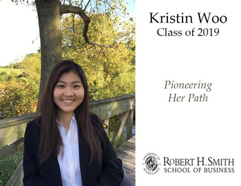 Of Maryland Smith School Of Business Mba Program by Kristin Woo 19 Pioneers Path Robert H Smith School