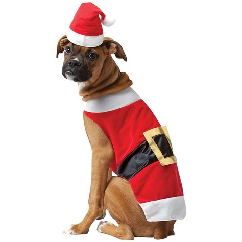 santa puppy costumes pet santa claus fancy dress ebay