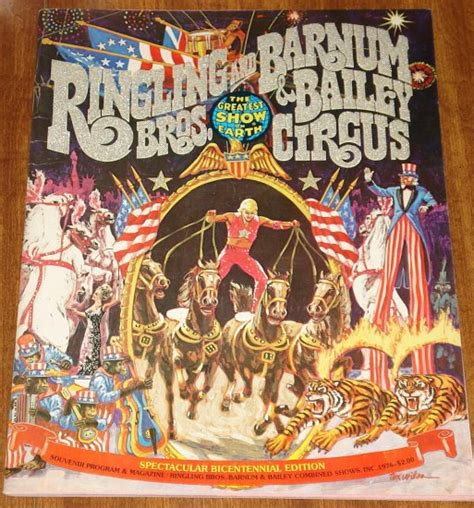 story of the ringling brothers books 1976 ringling brothers barnum bailey circus souvenir