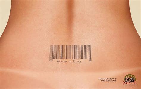 barcode tattoo amazon soul tattoo piercing print advert by ira barcode ads
