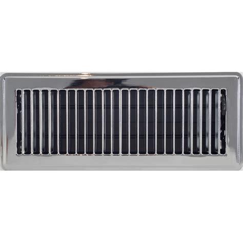 10 In X 30 In Floor Register - accord 10 x 30cm chrome louvered floor register bunnings
