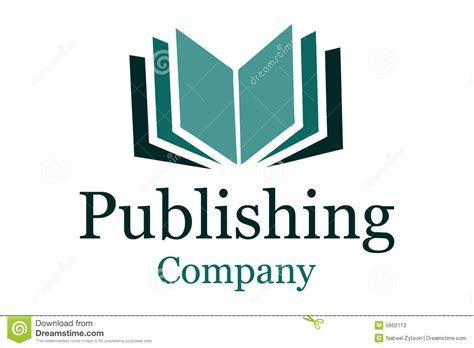 publisher logo templates publishing company logo stock photos image 5950113
