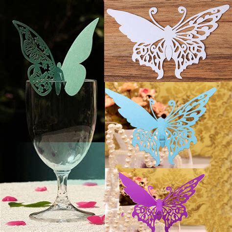 butterfly place cards for wine glasses template buy wholesale paper cut patterns from china paper