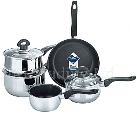 5 Pcs Non Stick Cookware Set xylan 5 pcs non stick induction saucepan cookware cooking pan pot set ebay
