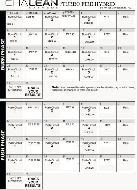 Chalean Workout Calendar Chalean Workout Calendar Calendar Template 2016