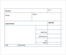 Template For Receipt by Sales Receipt Template 22 Free Word Excel Pdf Format