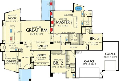 contemporary house floor plans single contemporary house plan 69402am