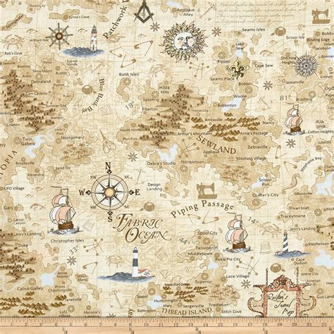 Route 66 Home Decor by Timeless Treasures On The Go Map Map Discount Designer