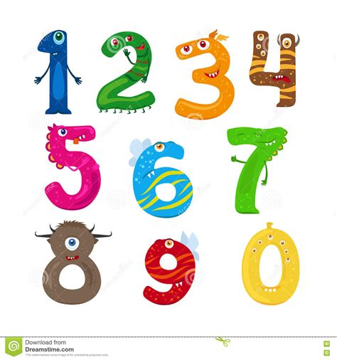 numeri clipart numbers stock vector illustration of