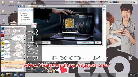 theme line free exo free theme for windows 7 update exo k windows 7 theme