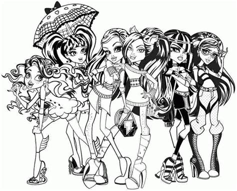 all monster high dolls coloring pages all monster high dolls coloring pages coloring home