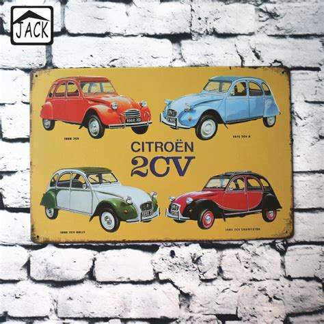 Wholesale Home Decor Suppliers by Aliexpress Com Buy 4 Quot Citroen 2cv Quot Advertising Tin