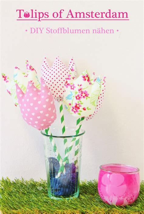 tulpen aus stoff naehen mit anleitung schnittmuster