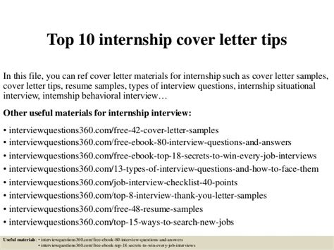Cover Letter For Internship Strategies Top 10 Internship Cover Letter Tips