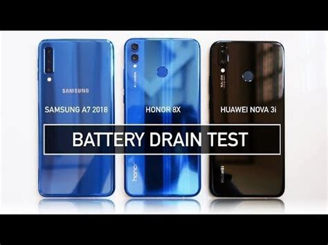 samsung   honor  nova  battery drain test realme