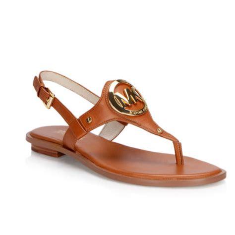 michael kors sandal flat sandals michael kors leather color sus maletas