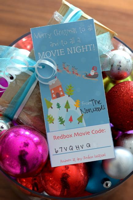 Physical Redbox Gift Card - gift a redbox movie night vanilla joy
