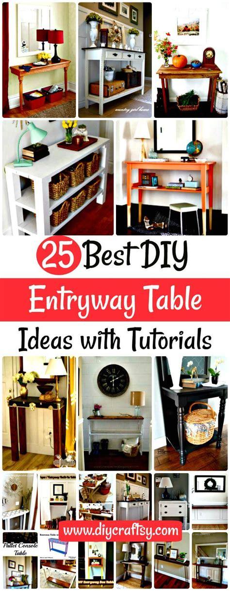 diy hallway decorations 25 best diy entryway table ideas with tutorials diy crafts