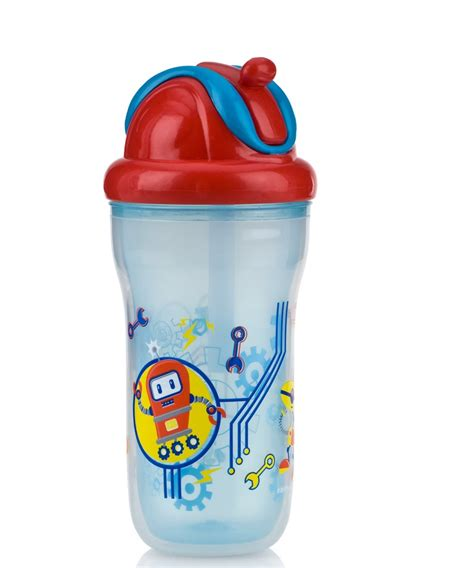 Nuby Flip It Handle Straw Cup 270ml nuby insulted decorative flip it beaker toddler non spill easy travel cup 270ml sustuu