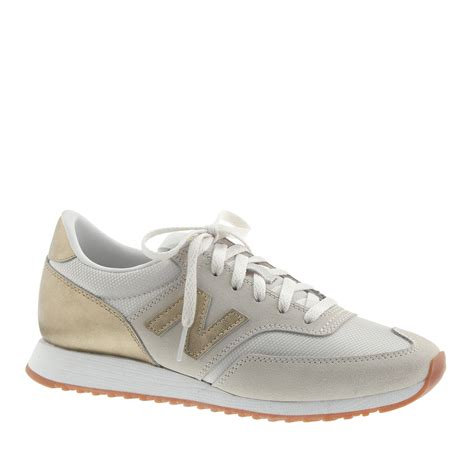 womens gold sneakers j crew new balance suede mesh and leather 620 sneakers in