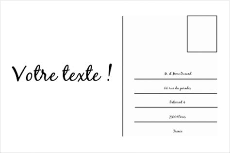 Modèle Carte Postale a voir modele carte postale