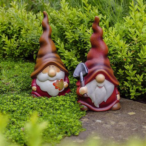 garden gnome ornaments austin  basil happy long hatted