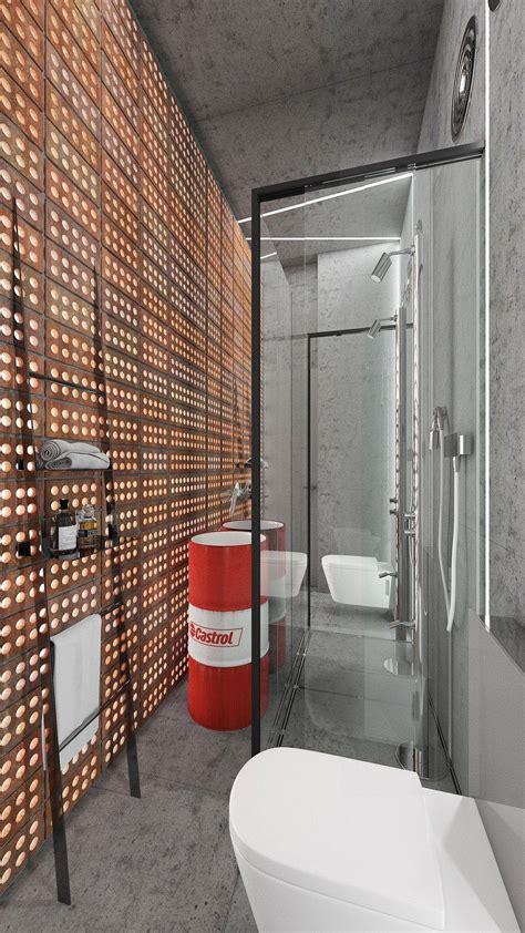 minimalist bathroom design with textured walls from fcp minimalist bathroom designs with wall texture decor which