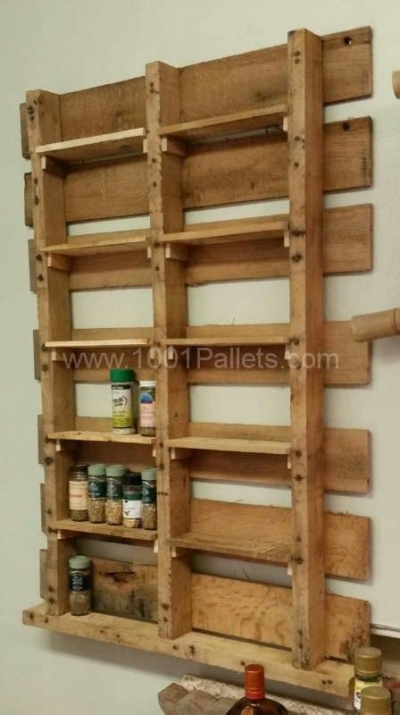 build a spice rack from pallets spice rack from upcycled pallet 1001 pallets