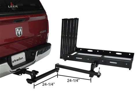 swing hitch cargo carrier rage powersport swing away hitch mounted wheelchair and