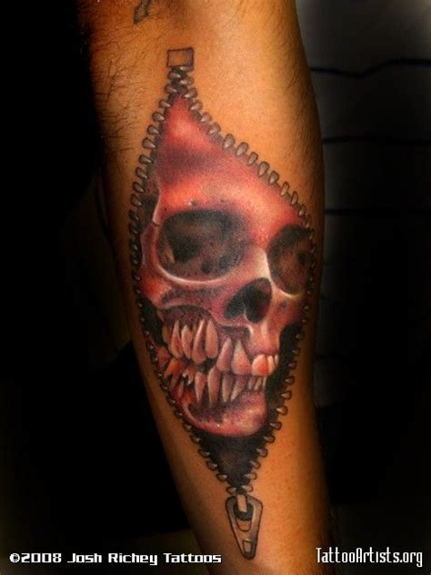 zipper tattoos designs skull with zipper pesquisa as que gostei