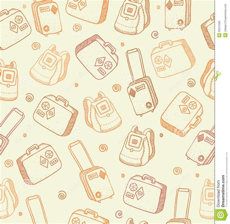 free online background pattern maker vector pattern with bags suitcases and backpacks stock