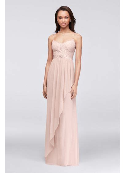 Bridesmaid Dress Sale David S Bridal - lace and cascading mesh bridesmaid dress davids bridal
