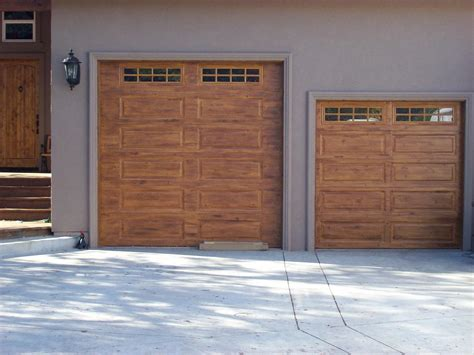 painted garage door wood graining