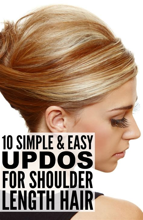 Diy Wedding Hairstyles For Shoulder Length Hair by 10 Simple Updos For Shoulder Length Hair
