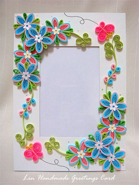 Handmade Paper Photo Frames Designs - azlina abdul tiny loops flower photo frame